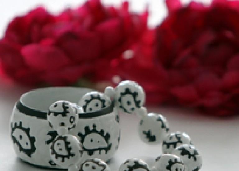 Бусы и браслет в этническом стиле