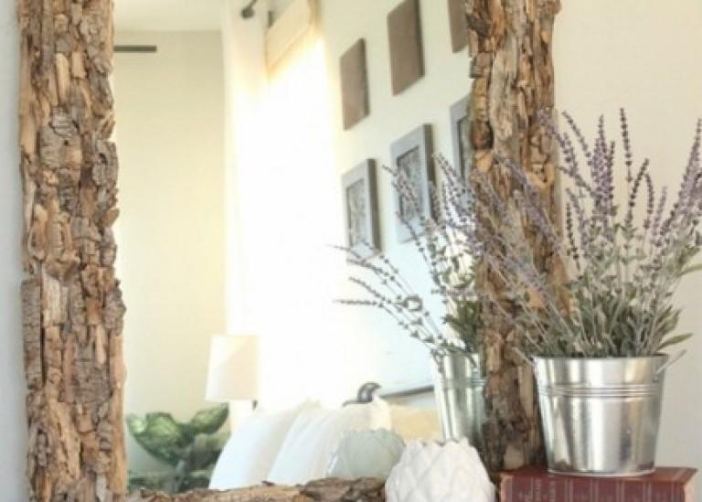 Идеи с коряжками и кусочками коры деревьев для экостиля