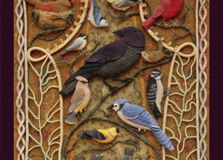 Райские птицы из войлока с вышивкой