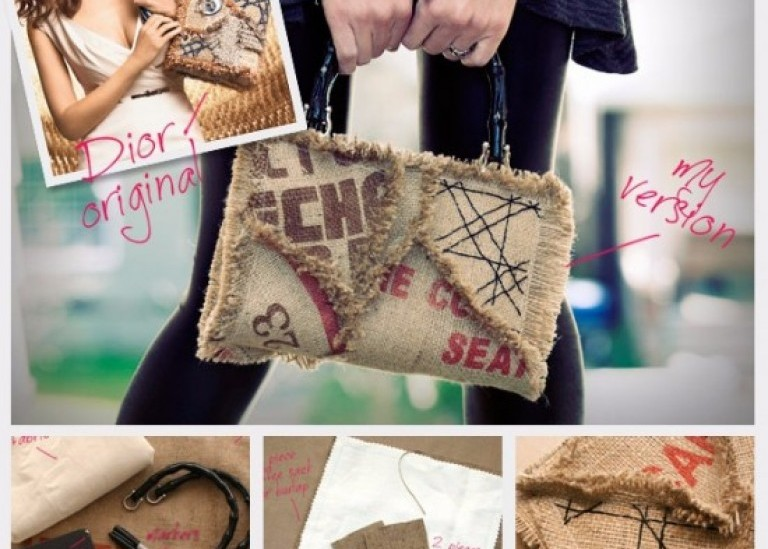 Креативная сумка из мешковины от Cathy