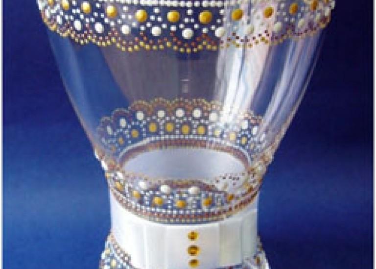 Роспись стеклянной вазы