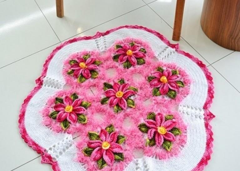 Декоративный цветочный коврик