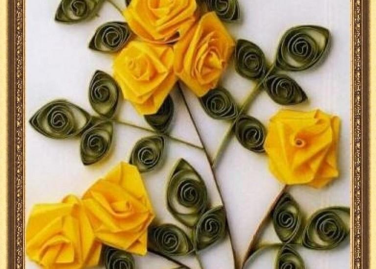 Бумажные цветы для украшений