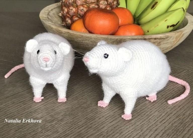 Вяжем крючком реалистичную Крысу — символ 2020 года