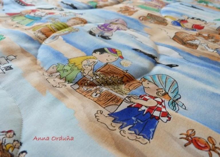 Детское одеяло из лоскутов