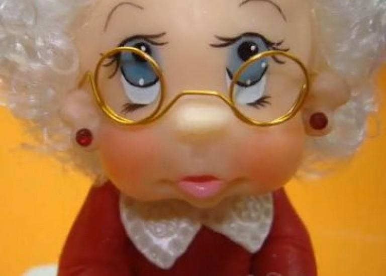 Лепка из холодного фарфора. Как слепить голову куклы