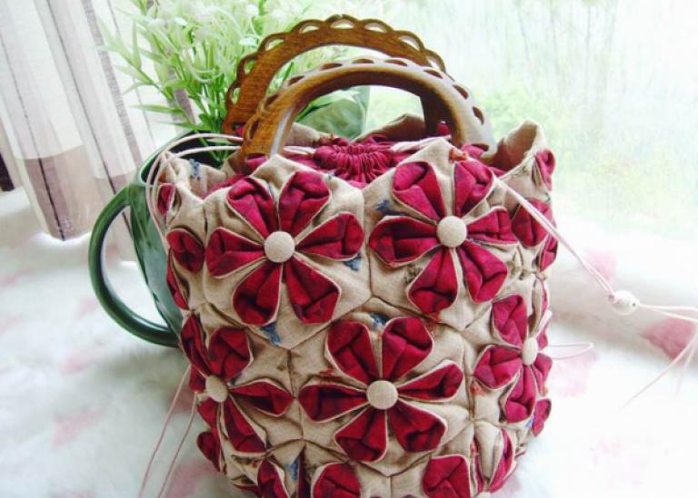 Самая красивая сумка в технике оригами. Шьем сами. Мастер-класс