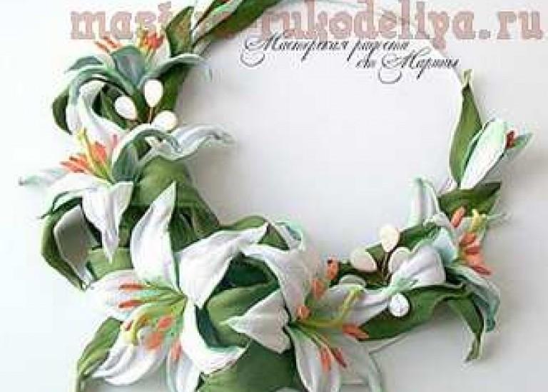 Колье для невесты «Нежность лилий»