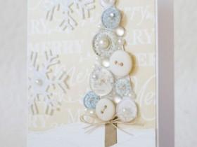 Пуговицы для создания открыток и новогодних поделок