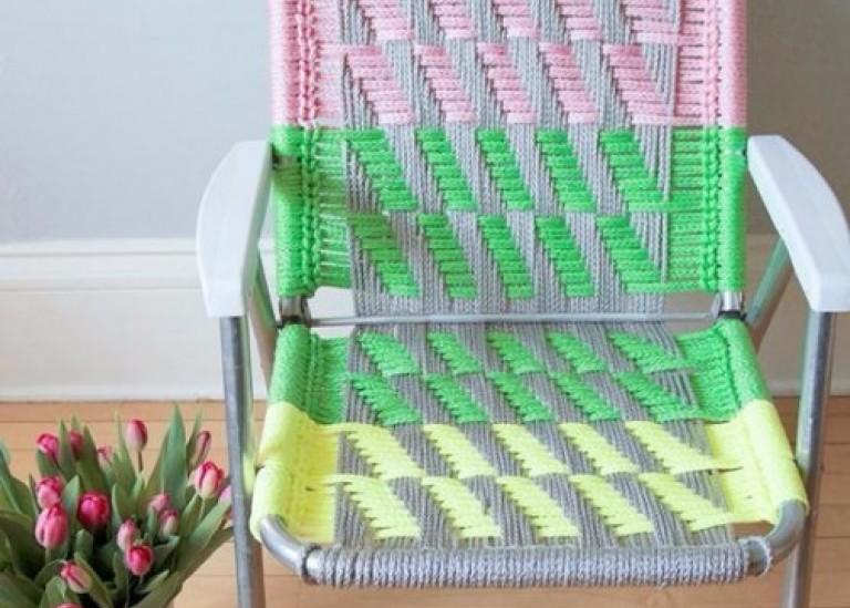 Как обновить - оплести старый стул