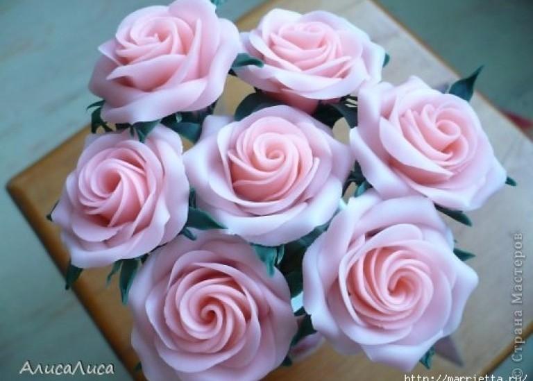 Викторианские розы из холодного фарфора