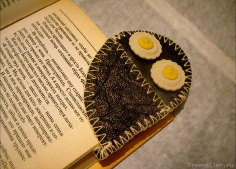 Книжная закладка-сова своими руками