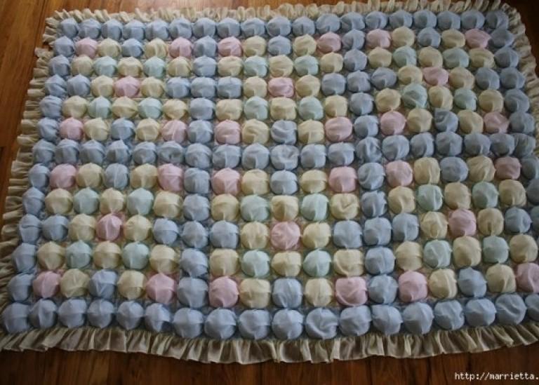 Шьем бисквитное детское одеялко с пузырьками