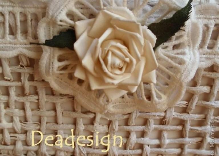 МК по плетению винтажных корзинок от Deadesign