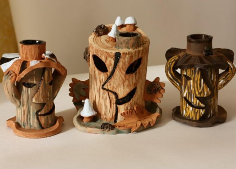 Мастер-класс по керамике. Подсвечник «Колдовское дерево»
