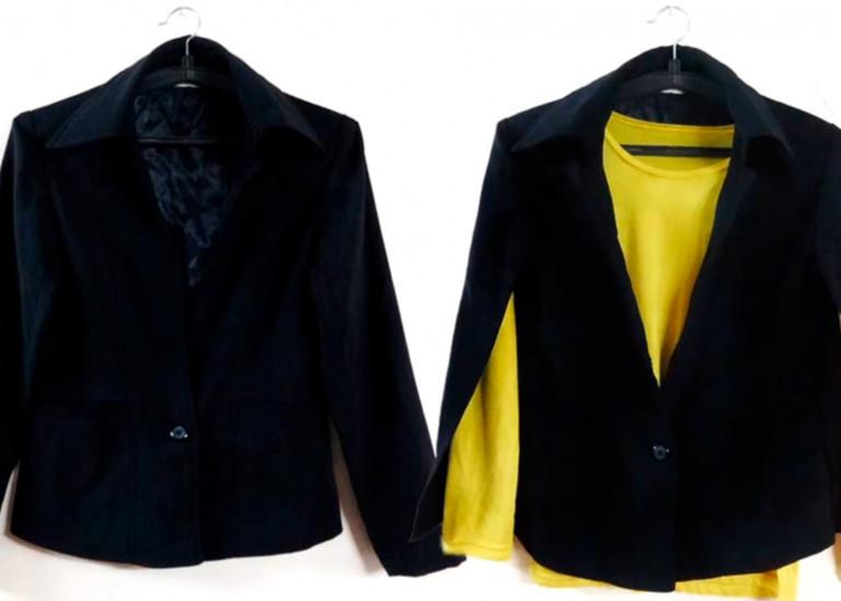 Превращаем старый пиджак в модный кейп